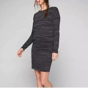 Athleta Avenues Long Sleeved Ruched Dress